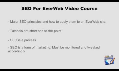 SEO For EverWeb Video Course - Introduction - What Is Search Engine Optimization