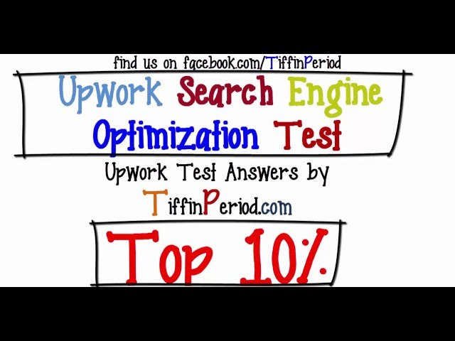 Upwork Search Engine Optimization Test