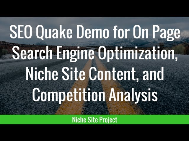 SEO Quake Demo For On Page Search Engine Optimization