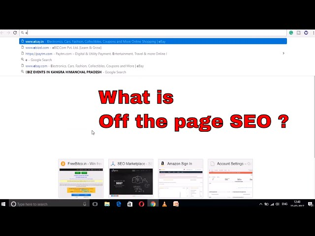 Off The Page SEO