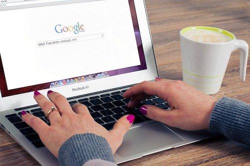 user searching Google