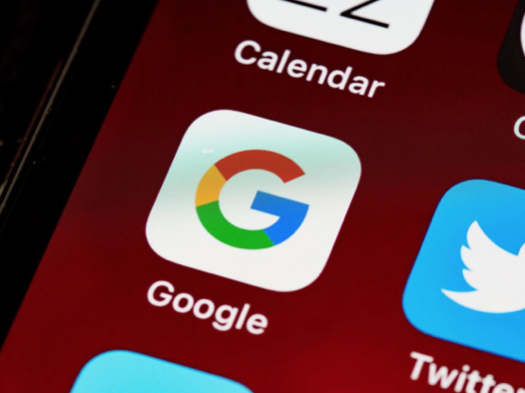 The Google app icon on a screen.